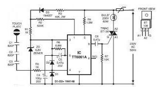 PPTC在灯触摸调光器电路中的应用